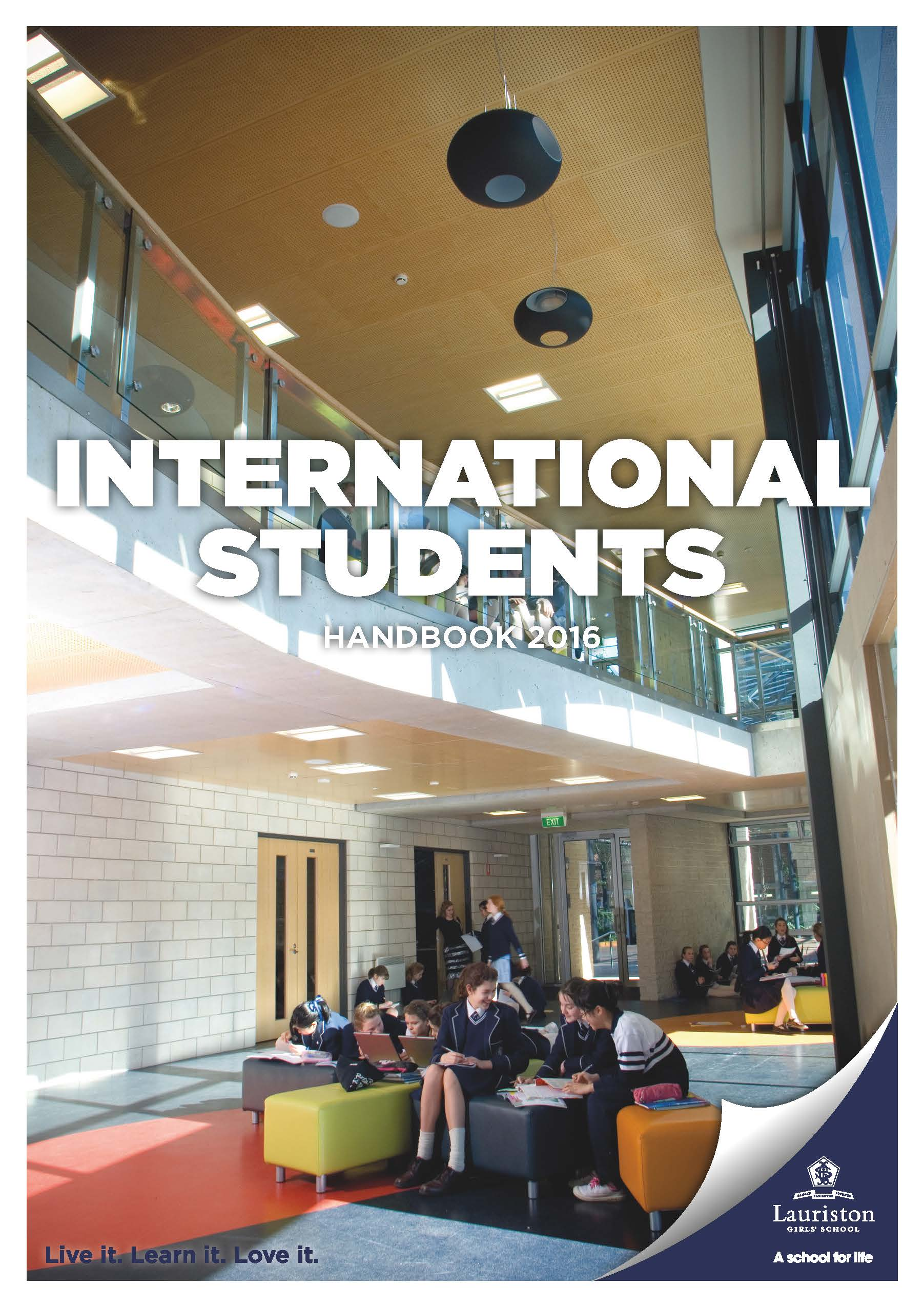 Pages from International Students Handbook Web