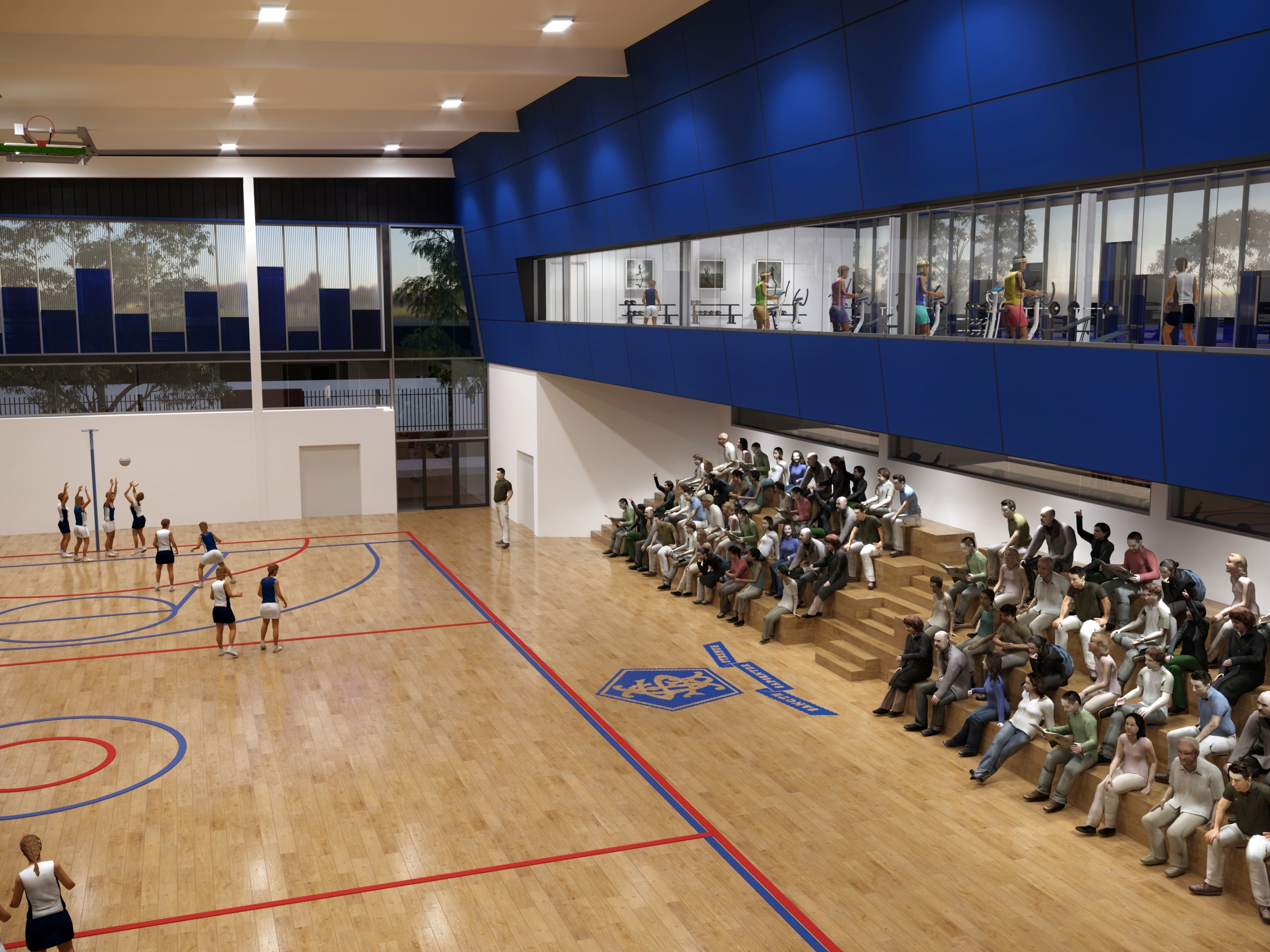 gym internal with seating